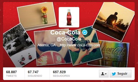Twitter de Coca Cola
